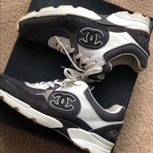 Chanel denim sneakers size 38